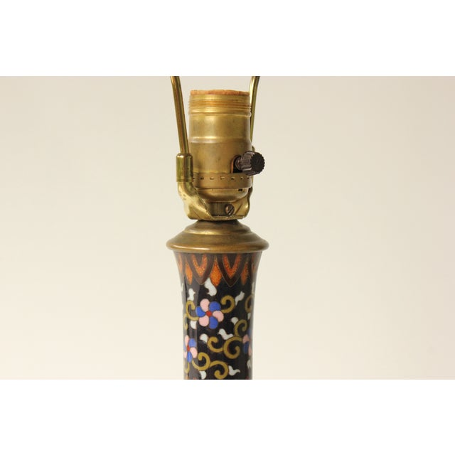 Japanese Goldstone Cloisonne Table Lamp - Image 6 of 8