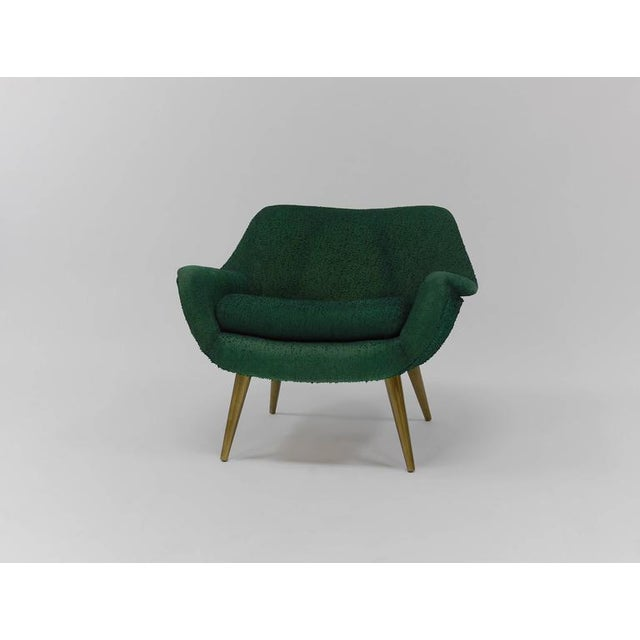 Mid-Century Modern Pair of Sculptural Lounge Chairs by Lawrence Peabody for Selig For Sale - Image 3 of 9