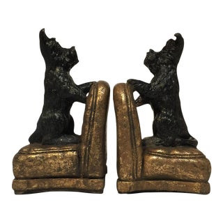 Scottie Dog Bookends - A Pair For Sale