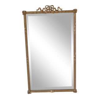 Friedman Brothers Model 4830 Ribbon Top Gold Mirror For Sale