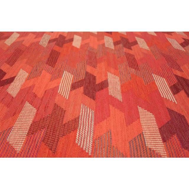 Mid-Century Modern Vintage Marta Maas Scandinavian Geometric Rug by Barbro Nilsson - 6′3″ × 8′2″ For Sale - Image 3 of 11