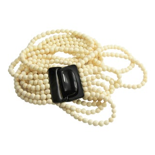 Gerda Lynggaard Horn & Bone Statement Necklace For Sale