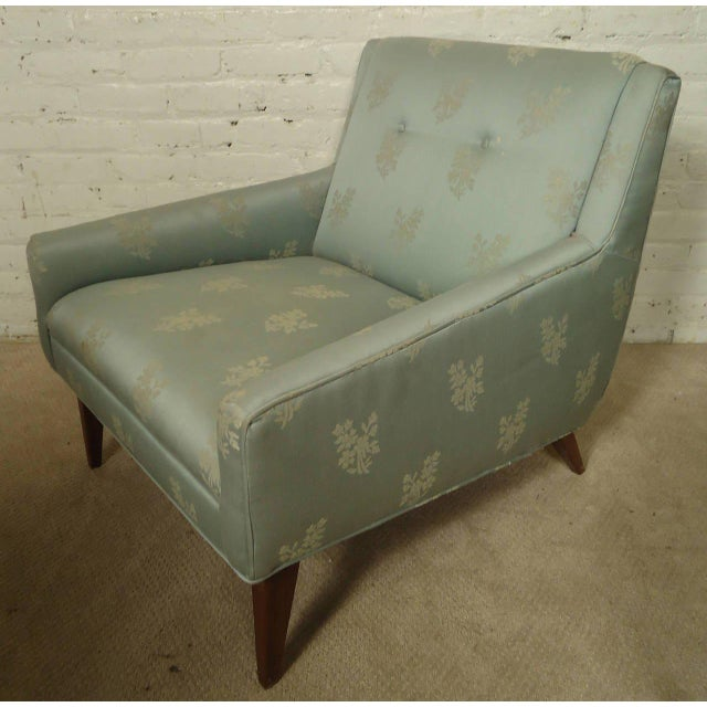 Mid-century Lounge Chair with Matching Ottoman For Sale - Image 5 of 6