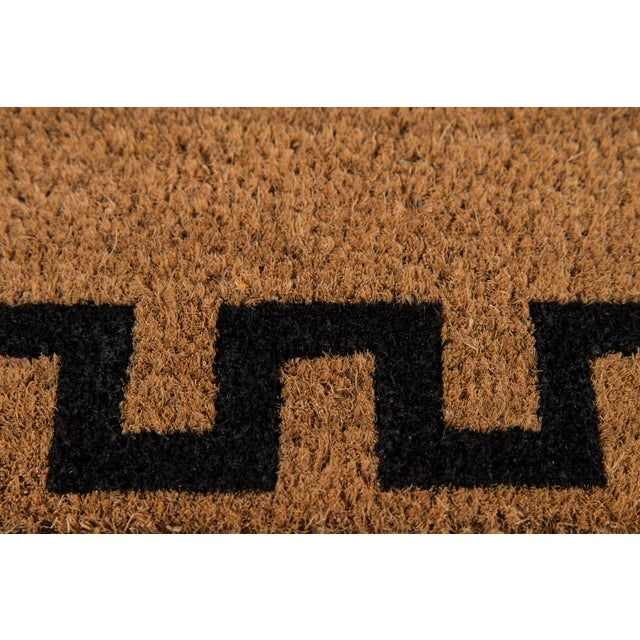 Contemporary Modern Erin Gates by Momeni Park Greek Key Natural Hand Woven Natural Coir Doormat- 1′6″ × 2′6″ For Sale - Image 3 of 5