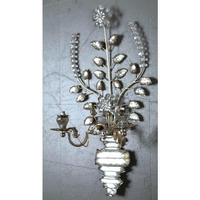 1930s 1930s French Silver Plated Sconces - a Pair For Sale - Image 5 of 8