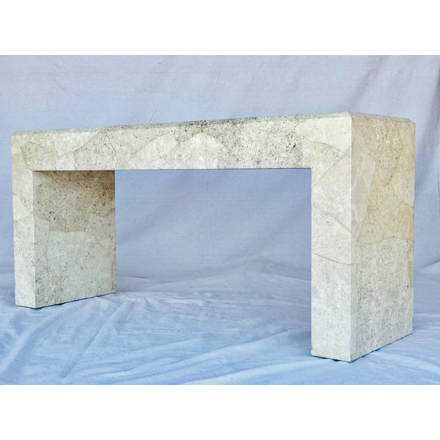Karl Springer Style Parchment Console Table For Sale - Image 13 of 13