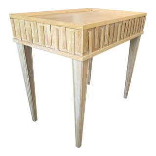 Contemporary Arteriors Home Limed Oak End Table For Sale