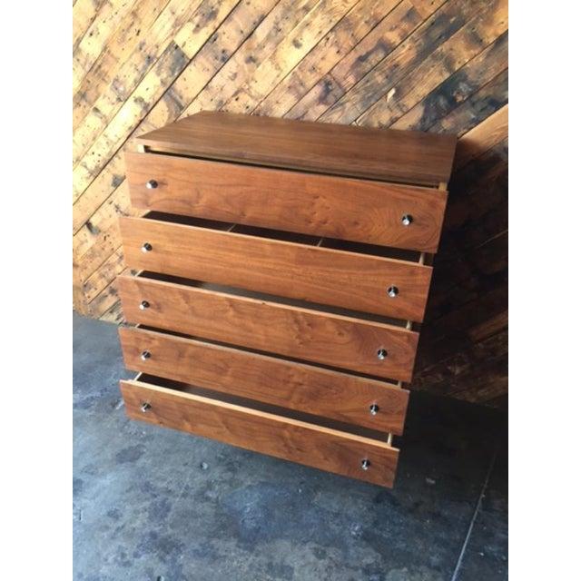 Vintage Stanley Walnut Highboy Dresser - Image 6 of 8