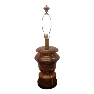 Large Chapman Brass Table Lamp For Sale