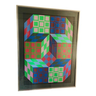 Victor Vasarely Signed and Numbered Op Art Lithograph For Sale