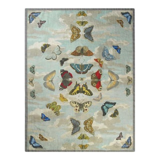 Kenneth Ludwig Chicago Mirrored Butterflies Throw For Sale