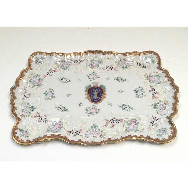 Hand Painted Embossed Ornate Dresser Tray - Image 3 of 8