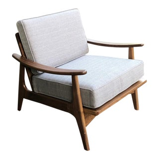 Handmade Mid Centuery Style Don Yacovella Lounge Chair For Sale