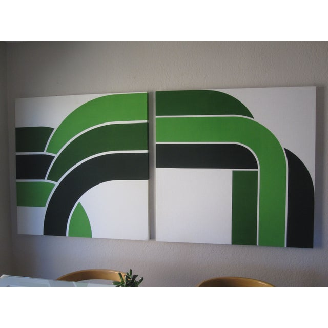 1970s Vintage Green Graphic Prints - Image 2 of 6