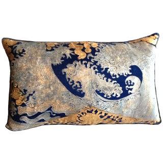Hokusai Silk Velvet Pillow Cover For Sale