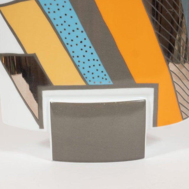 Mid-Century Modern Mid-Century Porcelain Vase by Michael Boehm & Rosemonde Nairac for Rosenthal For Sale - Image 3 of 11