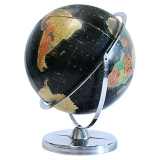 Replogle black starlight globe-1961