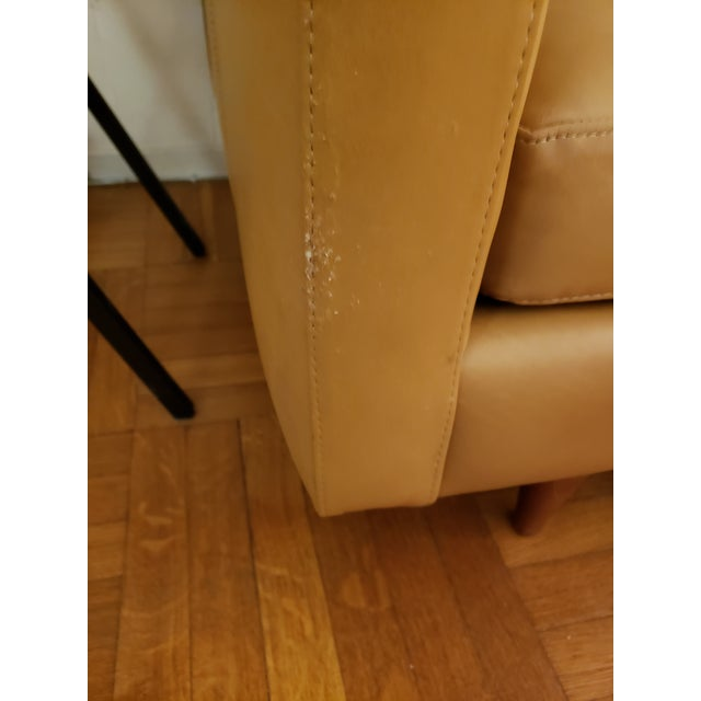 Tan Room & Board Tan Classic Leather Sofas - A Pair For Sale - Image 8 of 9