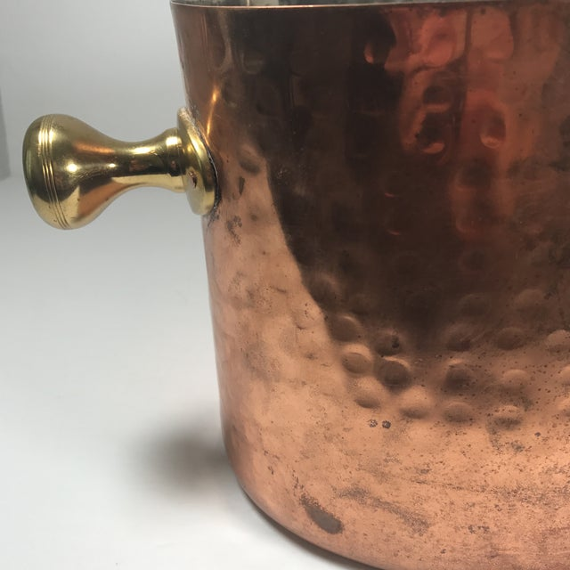 Vintage Copper Double Champagne Bucket For Sale - Image 9 of 11