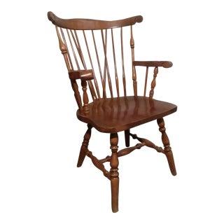 1960s Vintage Windsor Brace Back Arm Chair For Sale