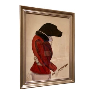 """20th Century Expressionist Watercolor """"Portrait"""" of a Hunting Dog For Sale"""