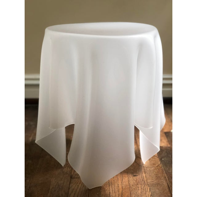 Contemporary Acrylic Handkerchief Table For Sale - Image 3 of 13