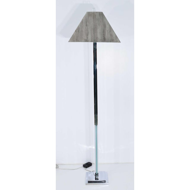 Chrome Chrome and Glass Floor Lamp For Sale - Image 7 of 9