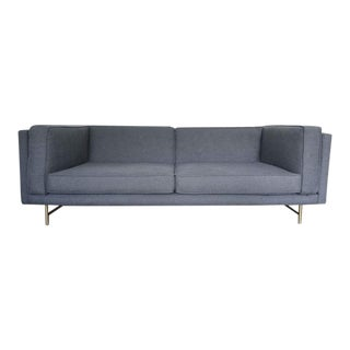 "Blu Dot Bank 80"" Sofa Couch Loveseat in Gray For Sale"