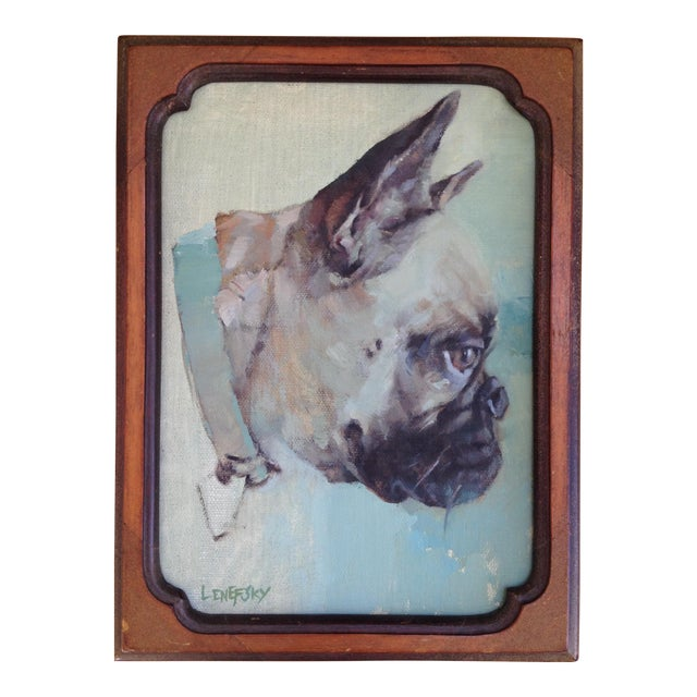 French Bulldog Oil Painting - Image 1 of 5