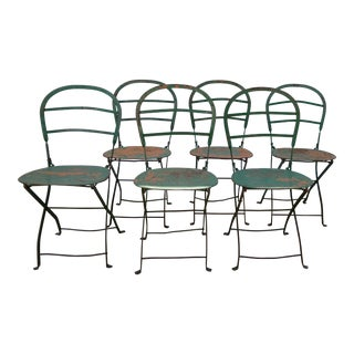 Steel French Bistro Chairs - Set of 6