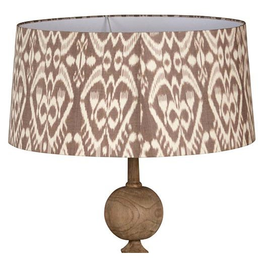 Carved Wood Table Lamp - Image 3 of 3