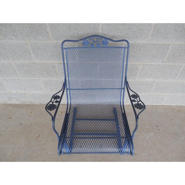 Vintage Woodard Briarwood High Back Spring Base Chair Model #1A052904 - Image 7 of 8