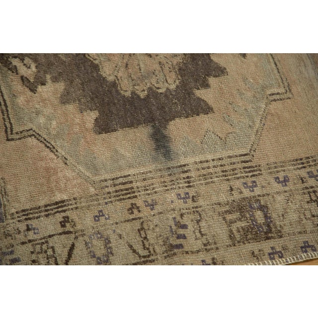 "Vintage Distressed Oushak Rug Runner - 3'7"" x 8' - Image 6 of 10"
