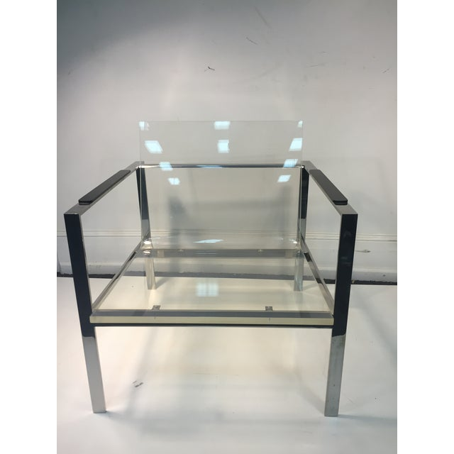 Rare Pair of Modernist Lucite And Nickeled Bronze Chairs by Laverne For Sale - Image 9 of 10