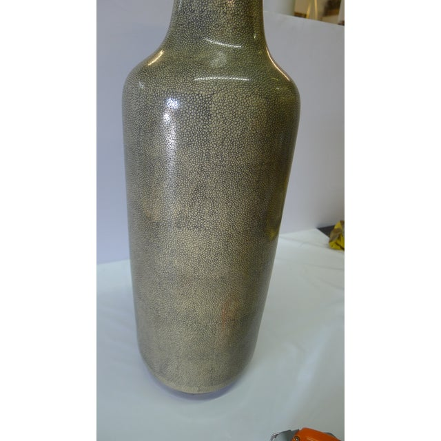 Shagreen Texture Modern Chinese Vase For Sale In Los Angeles - Image 6 of 10