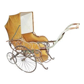 French Antique Stroller Pram Buggy For Sale