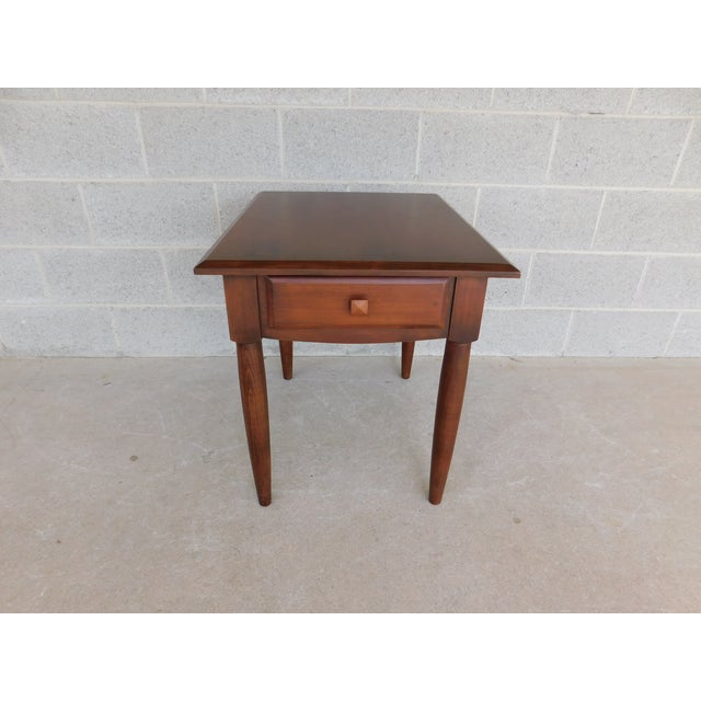 Early 21st Century Ethan Allen American Dimension Collection 1 Drawer End Table For Sale - Image 5 of 9