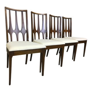 Set of Four Broyhill Brasilia Walnut Dining Chairs For Sale