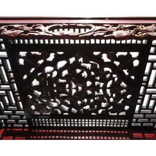 Chinese Red Solid Wood Carved Bed Frame Preview