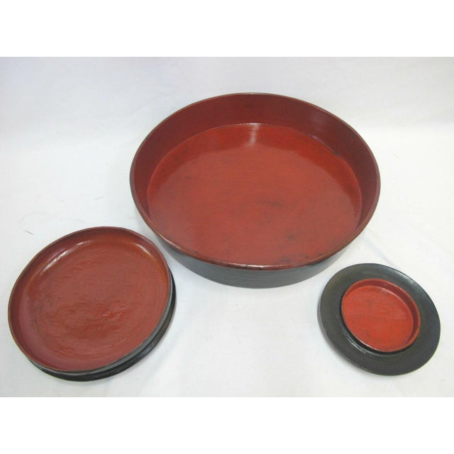 19th Century Antique Burmese Conical Compartment Food Offering Bowls- 7 Pieces For Sale - Image 10 of 12