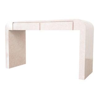 Minimalist Pink Waterfall Desk For Sale