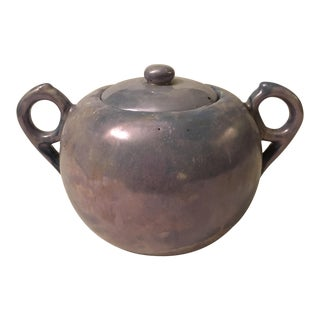 Periwinkle Blue Lusterware Sugar Pot