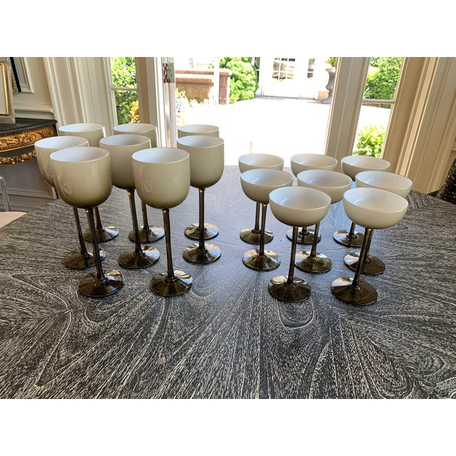 Set of 16 Carlo Moretti Cased Wine and Coupes For Sale In New York - Image 6 of 6