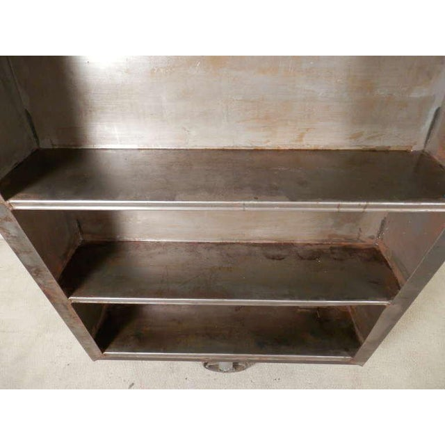 Large Industrial Metal Rolling Cart For Sale - Image 5 of 9