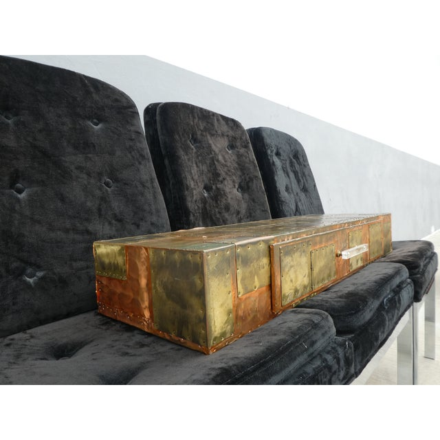 1970's Brutalist Patchwork Wall Console Manner of Paul Evans For Sale In Miami - Image 6 of 12