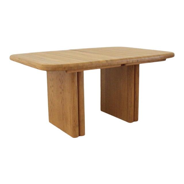 Solid Oak Boho Restored Dining Table For Sale