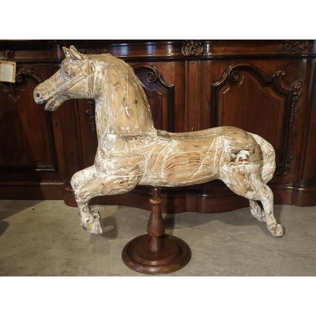 Antique Whitewashed Carousel Horse From Spain, Circa 1915 For Sale In Dallas - Image 6 of 13