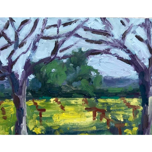 Suisun Valley Mustard Grass Original Landscape Oil Painting For Sale In San Francisco - Image 6 of 12
