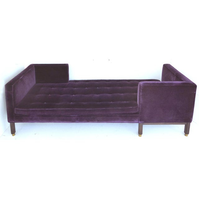 Offered for sale is a rare Dunbar tête-à-tête sofa (model 5944) designed by Edward Wormley, circa 1950. Beautifully...