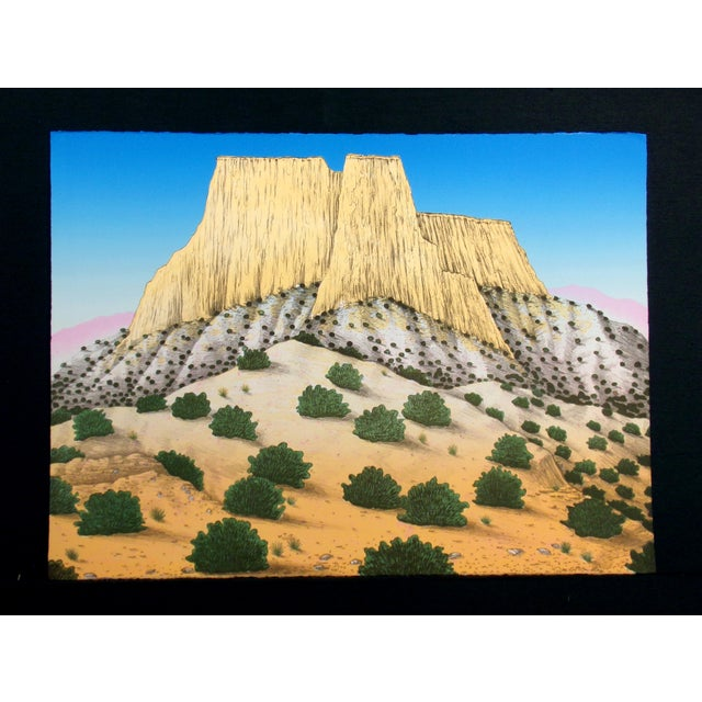 Limited edition lithograph art print of a desert mesa by David Bradley. Edition size of 100. Hand signed, titled and...